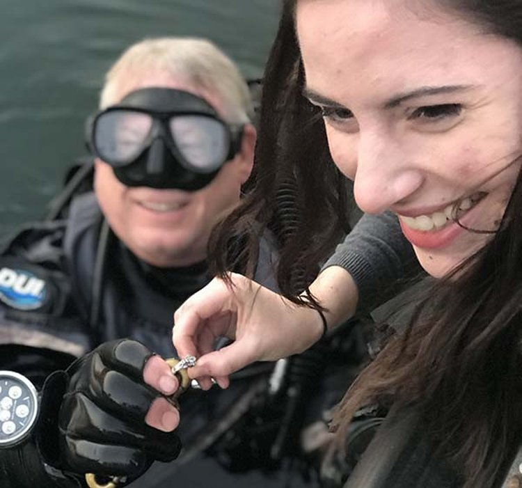 Diver Recovers 'Priceless' Engagement Ring From the Murky Depths of Lake Travis in Texas