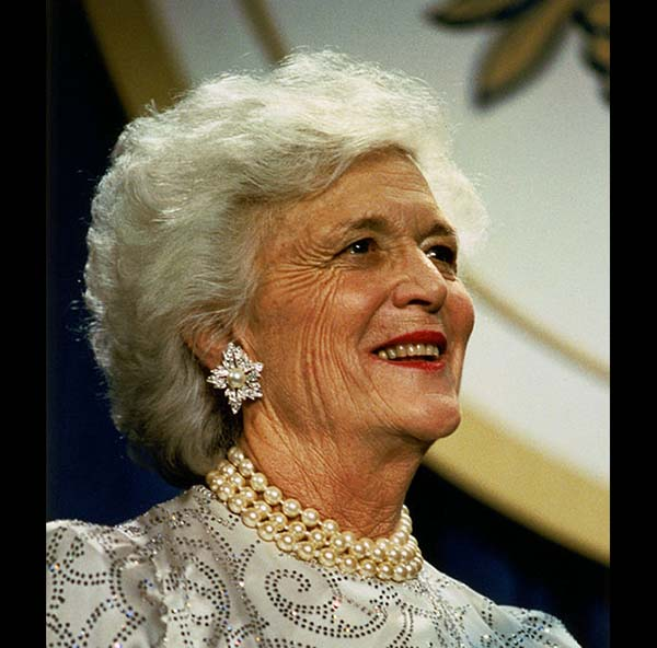 Women From Coast to Coast Break Out Their Pearls to Honor Former First Lady Barbara Bush
