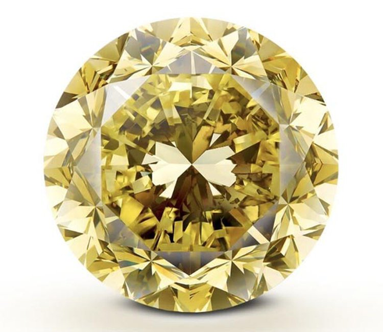 Here's the Largest Round Brilliant-Cut Fancy Vivid Yellow Diamond Ever Graded by GIA